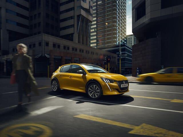 Peugeot 208 žltý, 208 leasing, nízka cena, lacno